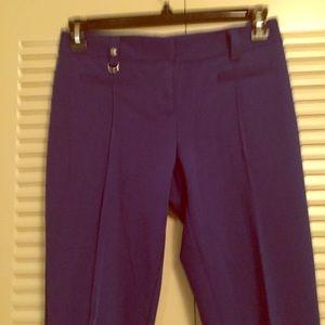 Cache Woman's 6 Cobalt Blue Rayon Blend Pants